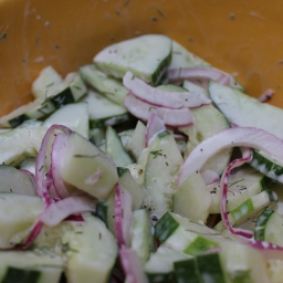 Simple Summer Cucumber Salad