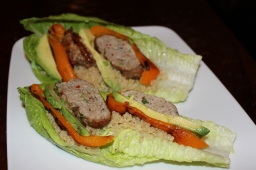Thai Style Turkey Burger Lettuce Wraps